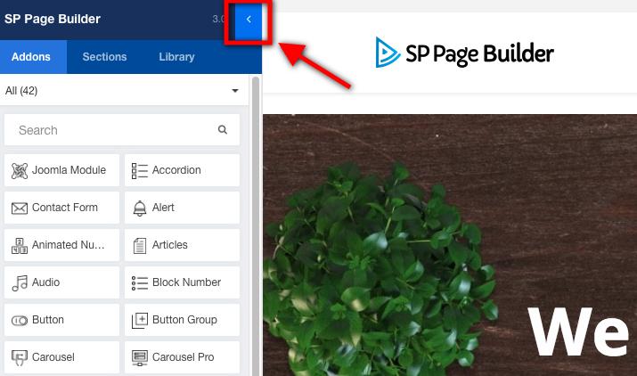 SP Page Builder边栏