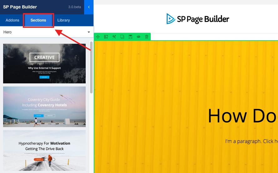 SP Page Builder内置
