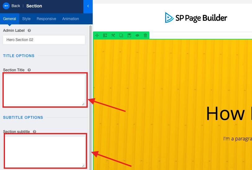 SP Page Builder标题